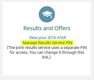 results-service-pin